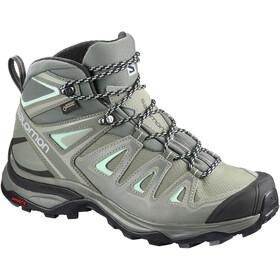941b0fa57e2f Salomon X Ultra 3 Mid GTX Shoes Women Shadow Castor Gray Beach Glass